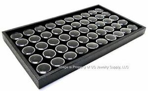 1 Black 50 Jar Tray Use For Gems Beads Coins Gold Nuggets Body Jewlery Display