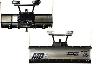 Buyers New Md75 Snowdogg Snow Plow Complete W wiring Mount Hardware