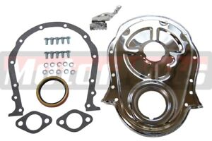 Chevy Big Block 396 402 427 454 Steel Timing Chain Cover Set W Timing Tab Bbc