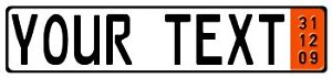 Export Zoll Red Bmw Vw Porsche European License Plate Tag Mercedes Audi Mabach