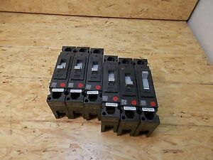 Lot Of 6 Ge Circuit Breakers Thed113020 277 Vac 20a Amp