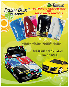 48 Pack Treefrog Fresh Box Classic Assorted Squash Scents Air Freshener Refill