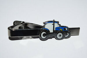 Ford new Holland Tractor Tie Clip Novelty Farming Inc Gift Pouch Enamel Suit