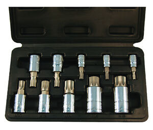 Atd 10pc Triple Square Spline Bit Socket Set Lifetime Warranty 13782