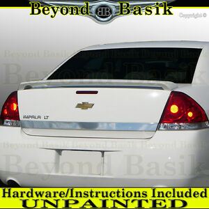 2006 2013 Chevrolet Chevy Impala Factory Style Spoiler Trunk Wing Tail Unpainted