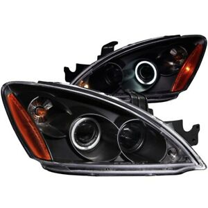 For Mitsubishi Lancer 2004 2007 Projector Headlights Halo Black Clear Ccfl