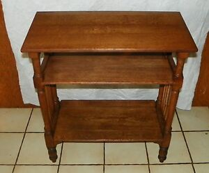 Solid Quartersawn Oak Bookshelf Entry Table Reading Table T417