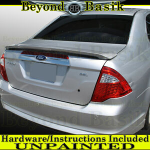 2010 2011 2012 Ford Fusion Oem Factory Style Trunk Spoiler Wing Unpainted