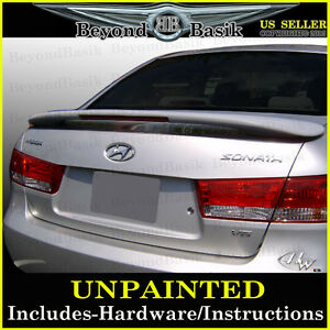 For 2006 2010 Hyundai Sonata Custom Style Spoiler Wing With Led Light Unpainted