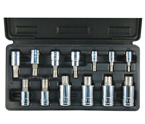 Atd 13pc Ribe Polydrive Bit Socket Set Lifetime Warranty 13780