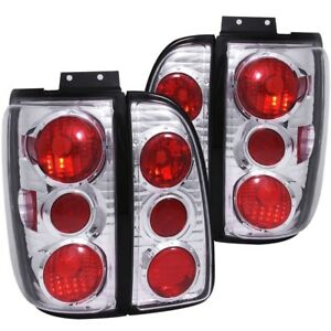 For Lincoln Navigator 1998 2002 Tail Lights Tail Lamps Chrome Housing Lh Rh