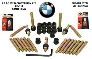 Bmw Stud Racing Conversion 12x1 5 With Black Lug Nuts Full Kit Conical Lug Nuts