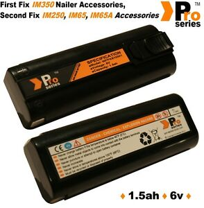 2 X Replacement Batteries 1 5ah pro series For Cordless Paslode Im350 250