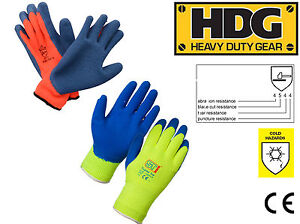 Heavy Duty Industrial topaz Thermal Grip Warm Work Gloves Cold Weather
