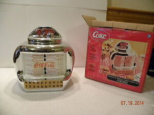 Coca Cola Ceramic Jukebox Cookie Jar