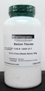 Barium Titanate 99 9 trace Metals Basis Certified 500g