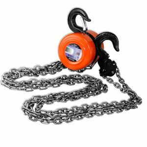 1 Ton Compacity Chain Puller Automotive 75 inch Hoist Block Lift Pulley