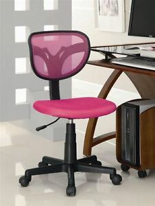 Casual Pink Mesh Computer Office Task Chair By Coaster 800055p