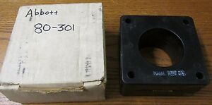New Nos Abbott Magnetics 80 301 Current Transformer Ratio 300 5a 50 400hz 600v
