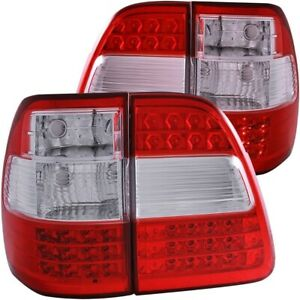 For Toyota Land Cruiser Fj100 1998 2005 L E D Tail Lights G2 Red Clear Lh Rh