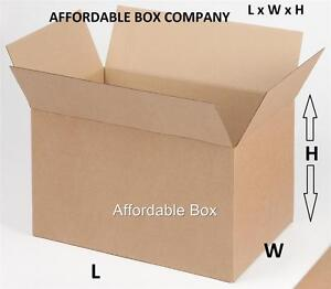 22 X 18 X 16 Quantity 10 Corrugated Shipping Boxes local Pickup Only Nj
