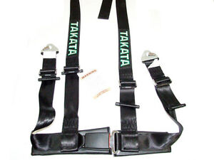 Takata Drift Ii 4 Point Snap On 2 Racing Seat Belt Harness Black