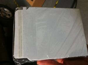 1 000 White Cardboard Self seal Cd dvd Shipping With Zip Strip And Peal