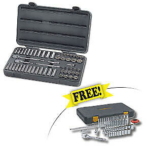 Gearwrench 57pc 3 8dr Socket Ratchet Set W free 51pc 1 4 dr Socket Set 80550f