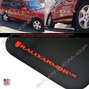 Rally Armor Ur Black Mud Flaps For 1998 2002 Subaru Forester W Red Logo