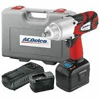 Ac Delco 1 2 Dr Digital Torque Cordless Impact Wrench Kit 1100 Ft Lbs ari2060