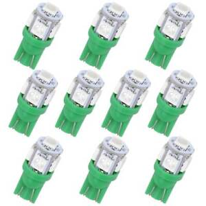 10x Green T10 W5w Led Bulb 5050smd 194 192 168 2825 Dome License Interior Light