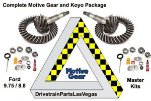 Ford 9 75 8 8 Ifs 4 56 Ratio Ring And Pinion Gear Set Pkg Master Kits Motive