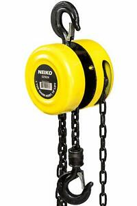 Chain Hoist 1 Ton 15 Foot Lift Chain Dia 1 4 Inch W Mechanical Load Brake