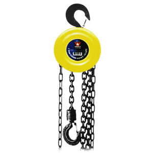 Chain Hoists 3 Ton 10 Foot Lift Chain Dia 5 16 Inch W Mechanical Load Brake