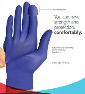 Nitrile Gloves Disposable Powder Free non Latex Vinyl Exam Gloves 2000 Case