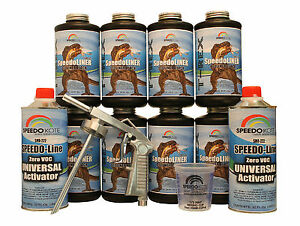 T rex Black Spray on Truck Bed Liner Smr 1000 k8 Truck Bedliner Kit W free Gun