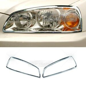 Chrome Head Light Lamp Molding Cover Garnish A781 For Hyundai 2004 06 Elantra Xd