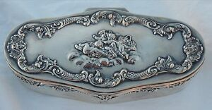 Shreve Co Sterling Silver Cherubs Antique Jewelry Box