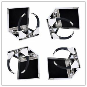 4x Great Stainless Steel Adjustable Folding Drink Holders Marine boat caravan