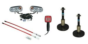 Snow Plow Upgrade Kit Halogen Lights Snow Shoes Hand Controller Blade Markers