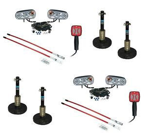 2 Snow Plow Upgrade Kits Halogen Lights Snow Shoes Controller Blade Markers
