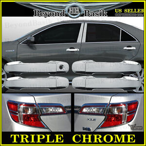 2012 2014 Toyota Camry Chrome Door Handle Covers Chrome Tail Light Bezel Covers