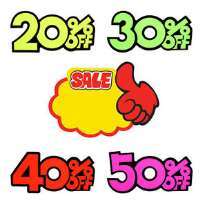Store Sale Promotion Price Discount Tag 29pcs Set Advertising Display Pop
