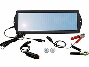 12 Volt Car Rv Motorcycle Solar Panel Battery Charger Maintainer