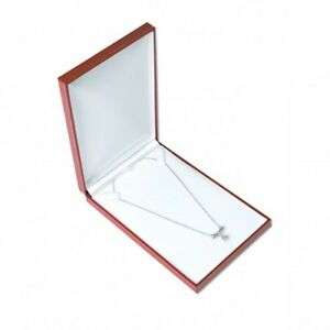 1 Classic Red Leatherette Necklace Pendant Or Cahin Jewelry Gift Box
