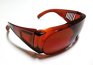 Ce Yag Laser Safety Goggles 1064nm 532nm Od4 Big Size Designed With Glasses On
