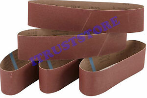 PACK OF 5 FINE 120 GRIT WOOD SANDING BELT SANDPAPER LONG WEAR CLOTH BACK 4 BY 36