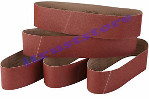 PACK OF 5 WOOD SANDING BELT SANDPAPER 80 GRIT LONG WEAR CLOTH BACK 4 BY 36