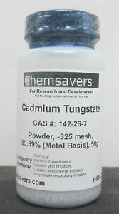 Cadmium Tungstate Powder 325 Mesh 99 99 metals Basis 50g