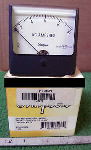 1 New Simpson 4tl70 0 10 Analog Panel Meter Nib make Offer